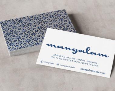 Business cards Mangalam Menorca