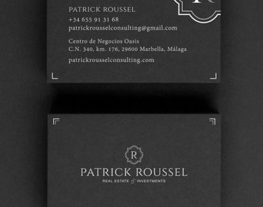 Business cards Patrick Roussel