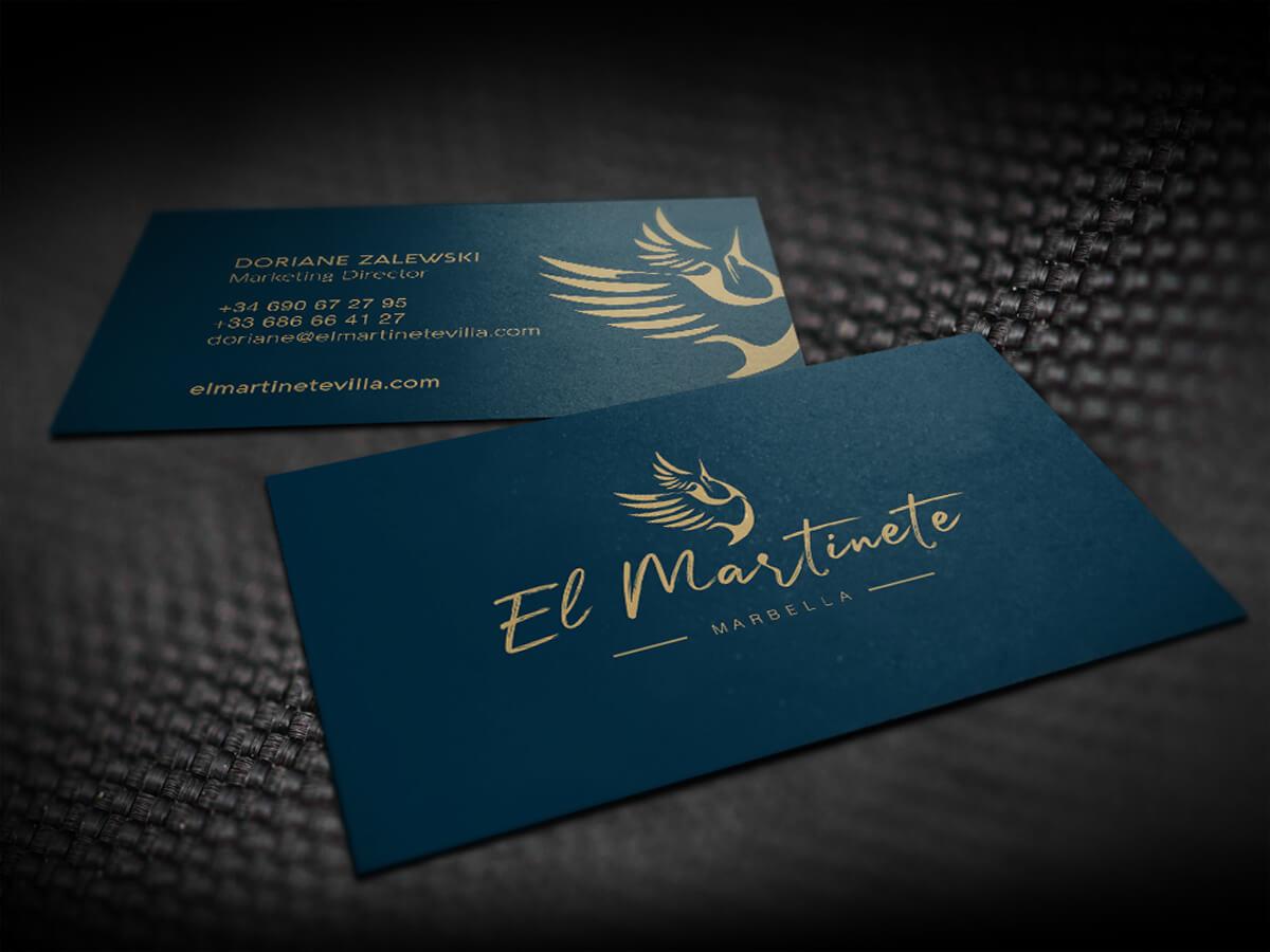 """Business cards Villa """"El Martinete"""""""